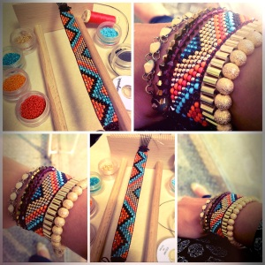 Bracelet tissage de Miss Lyly