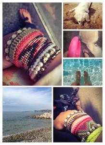 Bracelets en vacances de Miss Lyly...
